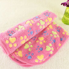 Soft Pet Fleece Mat Blanket Dog Cat 104x76cm Comfortable Blue Bed Mat Pink US