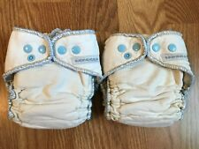2 Sustainablebabyish Fitted Cloth Diapers (Sloomb), size medium