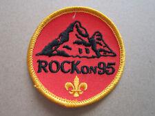 Rock On 95 Cloth Patch Badge Boy Scouts Scouting L3K B