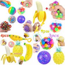 Fidget Sensory Toys Set Mesh DNA Stress Ball Squishy Stress Relief Squeeze Balls