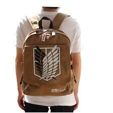 HOT Attack on Titan Cosplay Backpack Shingeki No Kyojin School Bag Khaki NBP002