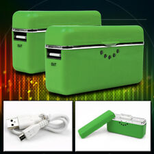 2 2800MAH EXTERNAL GREEN BATTERY MOBILE CHARGER USB IPHONE 4S 4 3GS IPOD CLASSIC