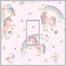 Unicorn Girls Light Switch Cover Wrap Skin UK Single Switch Sticker Vinyl Decal