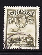 Antigua 1938-51/5-Verde-Oliva SG 107 usata bene.