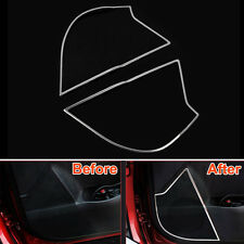 2x Steel Inner Door Loudspeaker Audio Stereo Cover Trim For Toyota Corolla 2014