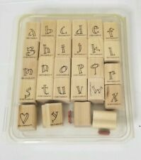 Stampin up rubber crafting stamps lower case letters of the alphabet
