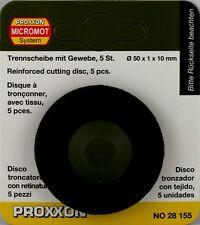 Proxxon 28155 Trennscheibe, Korund-gebunden, 50 x 1 x 10 mm, 5 Stück