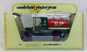 Models of Yesteryear Y-3 1912 Ford Model T BP Tanker Matchbox 1978