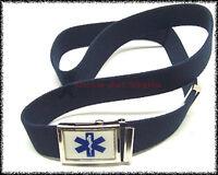 Cintura Vega nastro in canapa 2V79 con fibbia Soccorso Sanitario Croce Esculapio