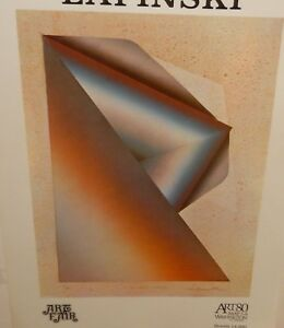 "TADEUSZ LAPINSKI ""SILENT STAR III"" 1980 ART FAIR COLOR ABSTRACT POSTER"