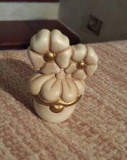 Vaso vasino bianco fiori Thun 6,5cm