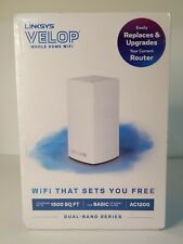 NEW - LINKSYS VELOP, AC1200, DUAL-BAND, WHOLE HOUSE WIFI SYSTEM (1-PACK) VLP0101