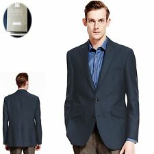 Cotton Blend Button Blazers Long Coats & Jackets for Men