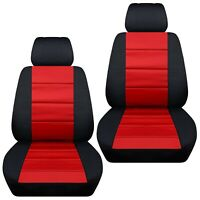 Fits 2012-2019 Kia Sportage  front set car seat covers    black and red