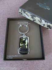 New in Box ~ Duck Dynasty ~ Stainless Steel Camo Tag Key Chain ~ FREE SHIPPING