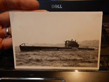 SUBMARINE L'ASTREE  POSTCARD    -- GLUE PAPER TO REVERSE  --  FRENCH NAVY