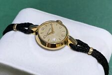 Very Rare Vintage Ladies SWISS Mechanical watch MOVADO - Gold plated - 1940s