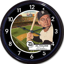 Al Kaline Detroit Tigers Baseball Card Wall Clock Briggs Stadium Mr Tiger MLB