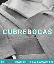 10 CUBREBOCAS / facemask/ Handmade100% fabric refoced Washable and Reusable.