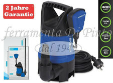 Pompa Immersione W 400 Acque Torbide 7500L/h  Garanzia 2 Anni