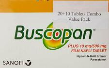 "Buscopan Plus Hiyosin-N-Butil Bromur, Parasetamol  ""30 Tablets"""