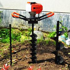 52cc Fence Earth Auger Petrol Borer Post Hole Digger Amp 3 Drills Bits 468