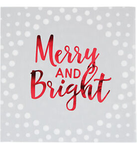 Creative Converting Creative Converting Holiday Sparkle Merry and Bright Silver