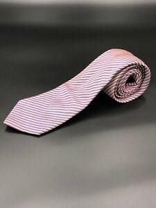 Stowers Savile Row Tie, Pure Silk, Purple, blue & yellow stripe, Made in England