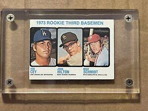 1973 Topps Rookie Third Basemen, Ron Cey, John Hilton & Mike Schmidt #615 Ex