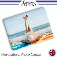 Personalised Image Custom Photo Picture Canvas Print 18mm Frame - VARIOUS SIZES