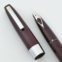 Sheaffer 330 Fountain Pen - Burgundy, Fine Short Diamond Nib (New Old Stock)