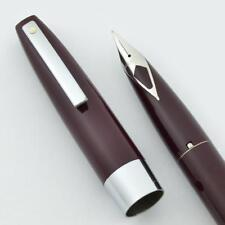 Sheaffer 330 Fountain Pen - Burgundy, Fine Short Diamond Nib (New Old Stock)