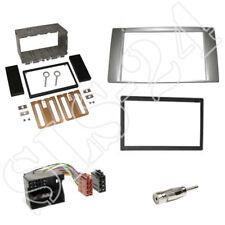 FORD Focus Kuga Fiesta C-MAX S-MAX Transit 2-DIN Blende+ISO Radio Adapter silber