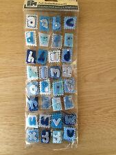 Papermania Blue Felt Alphabet Letters for Scrapbooking & Cardmaking