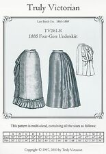 Motivi di sezione truly Victorian TV 261: 1885 Four-Gore underskirt