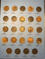 1859-1909 Indian Head Penny Cent Collection Whitman Folder With 22 Coins