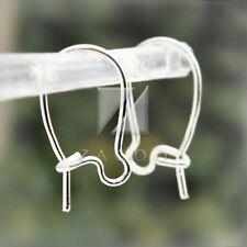 120pcs Kidney Ear Wire Hooks Earring Lever Back Jewelry Finding 15mm Silver