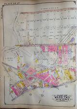 ORIGINAL 1929 E. BELCHER HYDE ATLAS MAP MASPETH QUEENS COUNTY NEW YORK 20 X 27.5