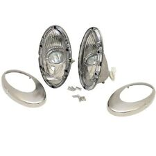ITC 81387-L/R Stainless 2 3/4 x 6 1/4 Boat Docking Lights 2330288 (pair)