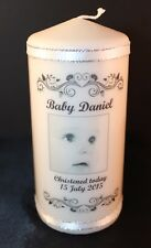 Cellini Gifts  personalised candle for Christening or Baptism
