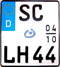 2 zeiliges Motorrad Wunsch Kennzeichen Nummernschild