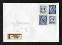 Böhmen und Mähren R Brief MeF 82 m.Zierfeld Viererblock 1941 Budweis -Loco 150 €