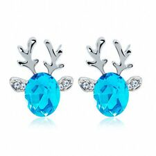 Women Charming Lovely Crystal Jewelry Christmas Gifts Stud Earrings Deer Shape