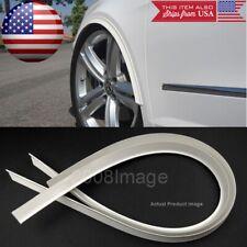 """2 Pcs 47"""" White Arch Wide Body Fender Flares Extension Lip Guar For VW Porsche"""