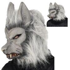 Gris Horreur Loup Garou Masque Halloween Poilu Déguisement Accessoire Animaux