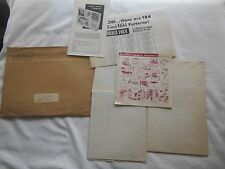1952 Easi- Bild Pattern Company Gun Cabinet Blueprint Set & Mailing Envelope