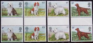Great Britain (United Kingdom) 1979 Scott 851-854 Dogs Gutter Pairs MNHOG