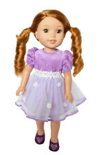 Lilac Easter Dress for Wellie Wisher Dolls