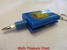 Blue TOOL BOX Key Chain that opens to usable emergency tools    ** w Gift Box **