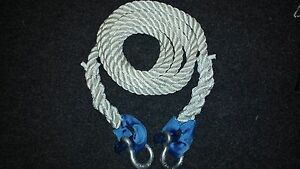 NYLON KINETIC 12 TONNE RECOVERY  TOW ROPE 4 x 4 -  6 METRE X 24MM WITH SHACKLES